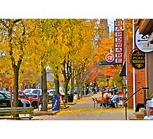 Autumn in Main Street Photographic Print