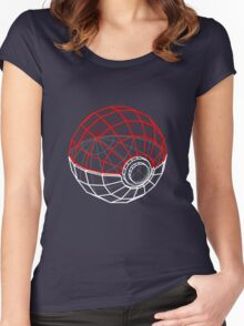 Pokeball 3D Women's Fitted Scoop T-Shirt