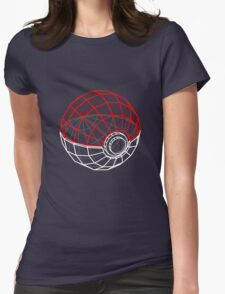 Pokeball 3D Womens Fitted T-Shirt