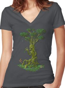 The Weeping Tree Women's Fitted V-Neck T-Shirt