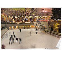 Skating in Rockefeller Center - New York City Poster