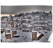Sheffield Snow - Hunters Bar Poster