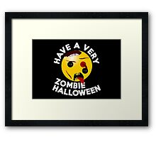 Have a very Zombie Halloween - for Kids Framed Print