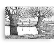 HOLLAND WATERLAND - PEN DRAWING Canvas Print