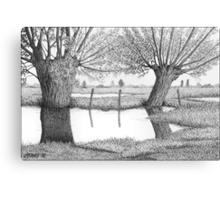 HOLLAND WATERLAND - PEN DRAWING Canvas Print