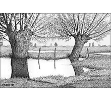 HOLLAND WATERLAND - PEN DRAWING Photographic Print