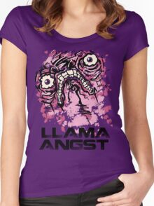 Llama Angst Women's Fitted Scoop T-Shirt