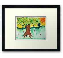 Tree of Earth's Elements Framed Print