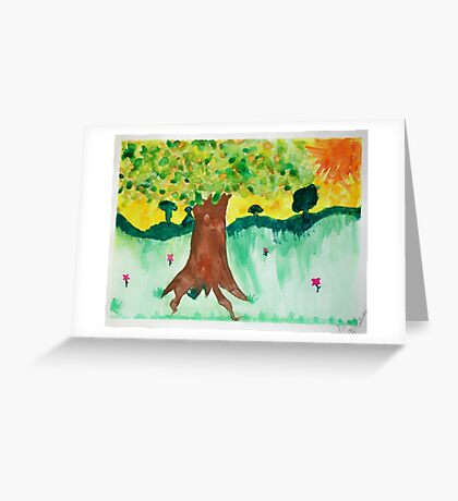 Tree of Earth's Elements Greeting Card