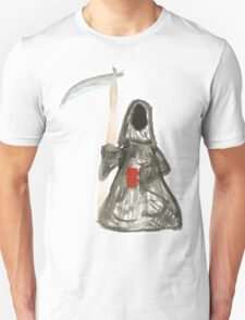 Grim Reaper with Coffee Unisex T-Shirt