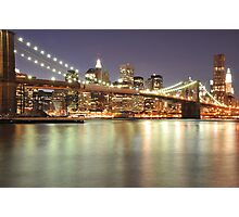 Brooklyn Bridge and Lower Manhattan Photographic Print