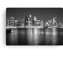 Lower Manhattan in Black and White Canvas Print