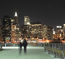 Lower Manhattan at Night by Shutter and Smile Photography