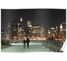 Lower Manhattan at Night Poster