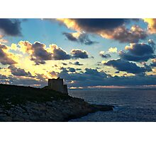 The Xlendi Watch Tower Photographic Print