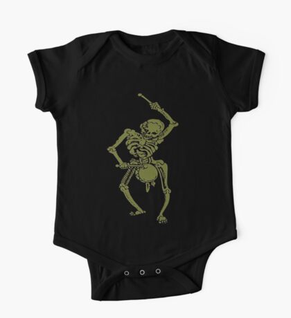 A Zombie Undead Skeleton Marching and Beating A Drum One Piece - Short Sleeve