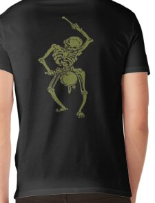 A Zombie Undead Skeleton Marching and Beating A Drum Mens V-Neck T-Shirt