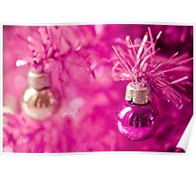 Pink baubles Poster