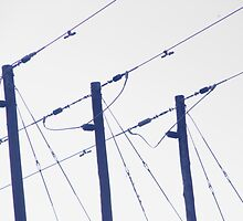 Electric poles and wires. by Annabella