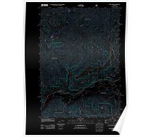 USGS Topo Map Oregon Blue River 20110721 TM Inverted Poster