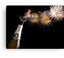 Champagne And Fireworks Celebration Canvas Print