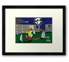 "Rick the chick ""ZOMBIE"" Framed Print"