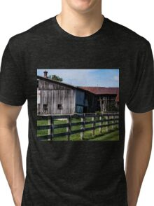 WEATHERED EQUESTRIAN FARM Tri-blend T-Shirt