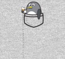 Pocket penguin enjoying ice cream One Piece - Long Sleeve
