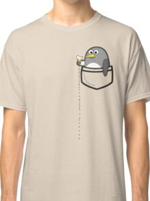 Pocket penguin enjoying ice cream Classic T-Shirt