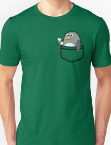 Pocket penguin enjoying ice cream Unisex T-Shirt
