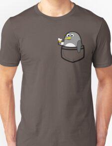 Pocket penguin enjoying ice cream Unisex T-Shirt