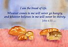 True Satisfaction... John 6:35 by Diane Hall