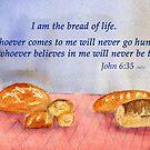 True Satisfaction... John 6:35 by Diane Hall