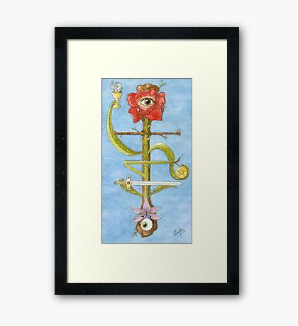 The Hanged Magus Framed Print