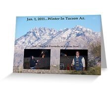 Happy New Year From Tucson, Az Greeting Card