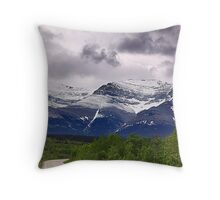 Chief Mountain Road Throw Pillow