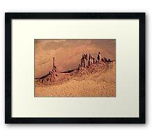 Aerial of Totem Pole Framed Print