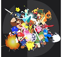 Smash 4 Vector Art Photographic Print