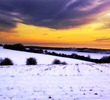 Soft Snowy Fields by Leon Ritchie