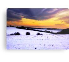 Soft Snowy Fields Metal Print
