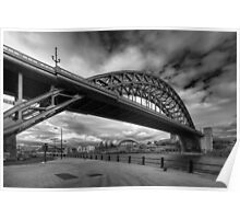 Tyne Bridge, Newcastle (B&W) Poster
