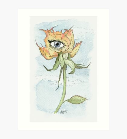 drEyed Rose Art Print