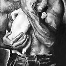 Man with Baby @ www.KeithMcDowellArtist.com by  Keith McDowell, Artist