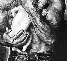 Man with Baby @ www.KeithMcDowellArtist.com by © Keith McDowell, Artist