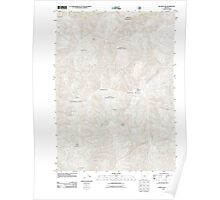 USGS Topo Map Oregon Silver Peak 20110713 TM Poster