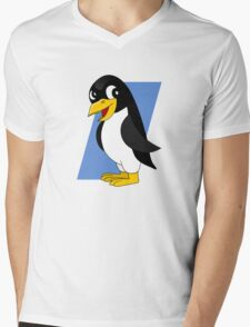Cute penguin cartoon Mens V-Neck T-Shirt