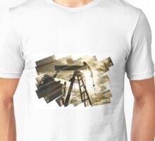 Oil rig abstract background. Unisex T-Shirt