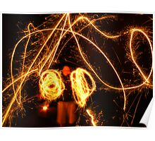 Light Painter Ringing in the New Year Poster