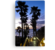leucadia sunset 2 Canvas Print