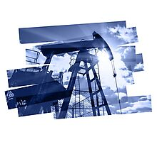 Oil industry abstract composition background. Photographic Print